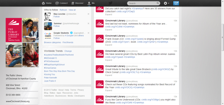 Cincinnati Library (cincylibrary) on Twitter