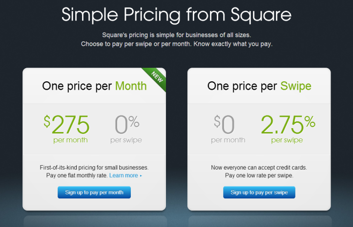 Simple credit card processing rates, no merchant account fees - Square