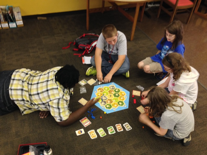 A few of us played Settlers of Catan to start off the afternoon.