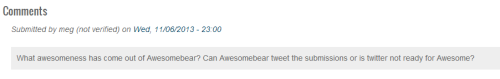 The AWESOME BEAR    Comment