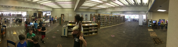 The 2nd Floor of the Chattanooga Public Library at 2pm on June 24, 2014.