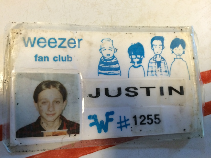 Me circa 1994. First time I grew my hair out. First time I got a Weezer album. One of the original Weezer fan club members.