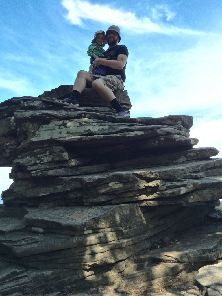 Aero and I up on top of a rock. Lookout Mountain, Chattanooga TN.